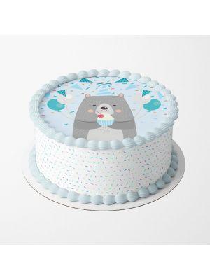 Birthday Bear kakkukuva karhu-synttäreihin.