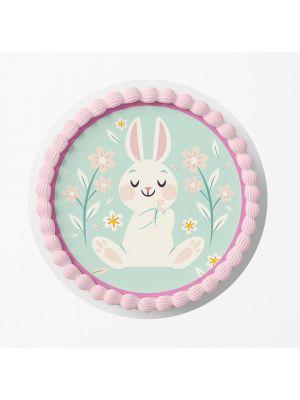 Birthday Bunny kakkukuva pupu-synttäriin.