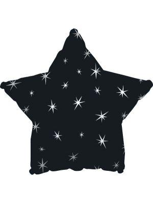 Musta tähtifoliopallo.