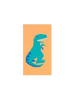 Pieni muistivihko dinosaurus T-rex kuvalla. Sopii esimerkikis kaverilahjaksi tai pinjatan täytteeksi.