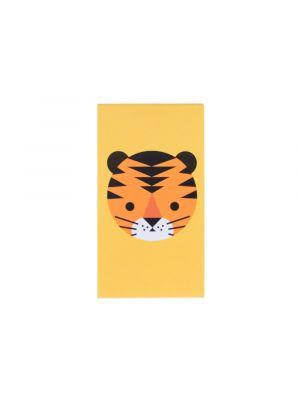 Pieni muistivihko tiikerin kuvalla. Sopii esimerkikis kaverilahjaksi tai pinjatan täytteeksi.