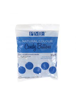 PME Natural Candy Buttons Blue - Siniset luonnolliset sulatettavat napit, 200g.