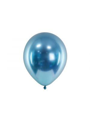 Siniset kromi-ilmapallot 30cm, 50 kpl.