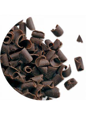 PME Belgian Dark Chocolate Curls - Belgialaiset tummasuklaakiharat, 85g.