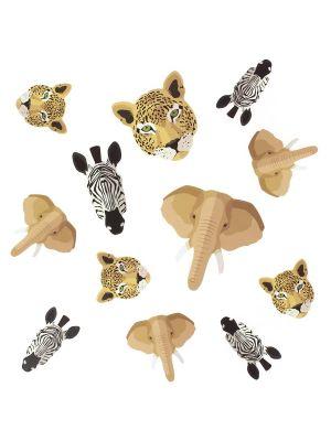 Konfetit, Safarin Eläimet, Norsu, Leopardi, Seepra