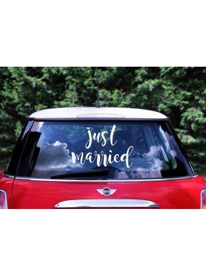 Hääautokoriste Tarra Just Married