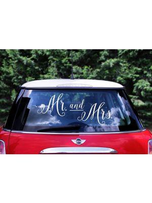 Hääautokoriste Tarra Mr and Mrs