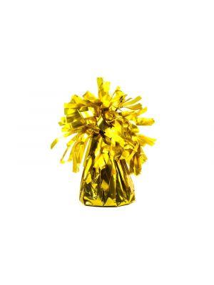 Kultainen ilmapallopaino jonka paino on noin 130 g.