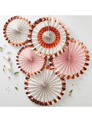 Paperiviuhkat Ditsy Floral, 5 kpl.