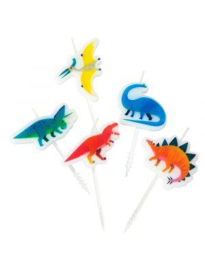 Dinosaurus kakkukynttilät, 5 kpl.