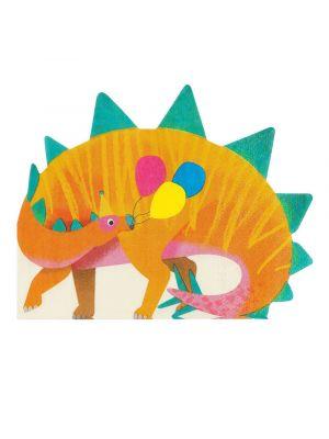 Dinosauruksen muotoiset servetit, Stegosaurus, 16 kpl.