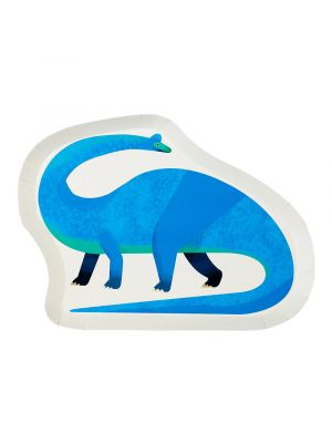 Dinosaurus paperilautaset, Brachiosaurus, 12 kpl.