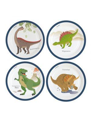 Dinosaurus pahvilautaset, 8 kpl.