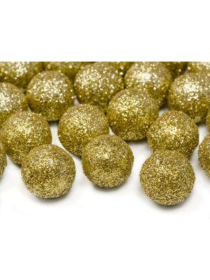 Kimaltelevat koristepallot, kulta-glitter, 25 kpl.