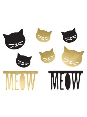 Hienot paperikoristeet jotka kuuluvat kissateemaan Cat Party.