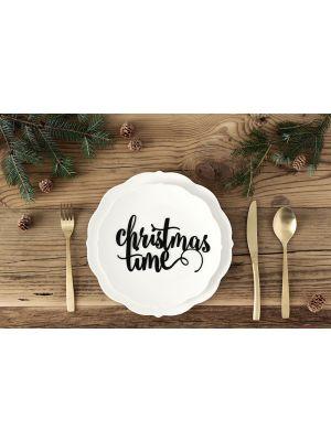 """Paperinen joulukoriste """"christmas time"""", 1 kpl."""