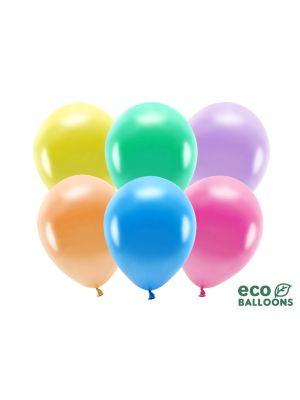 Monväriset Metallinhohtoiset ilmapallot, 10kpl - Eco
