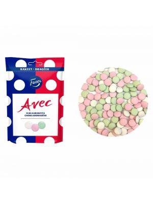 Fazer Avec - Ranskalaisia pastilleja, 175g. Mintunmakuiset suklaarakeet.