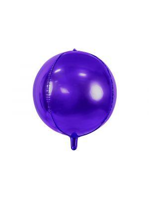 Violetti pyöreä foliopallo