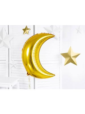 Kullanvärinen kuunmuotoinen foliopallo, 60 cm.