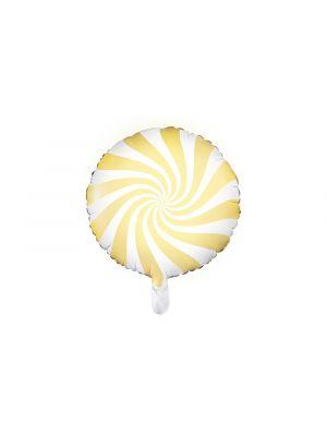 Foliopallo Keltainen - Candy Pastel