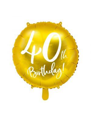 Folipallo, 40th Birthday!, Kulta, 45cm
