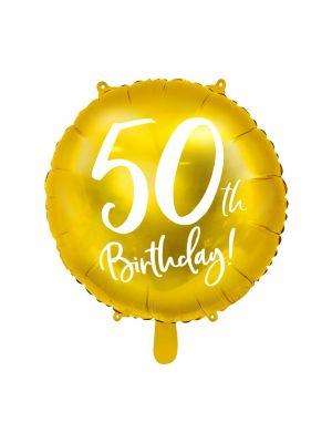 Folipallo, 50th Birthday!, Kulta, 45cm, 50-v juhlat