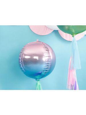 Pyöreä foliopallo, violetti-sininen, halkaisija 35 cm.