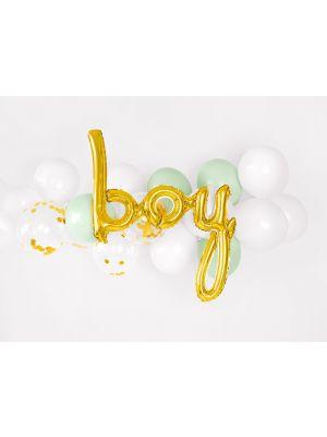 """Kultainen foliopallo """"boy""""."""