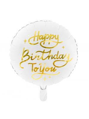Pyöreä Foliopallo, Happy Birthday To You, 35cm