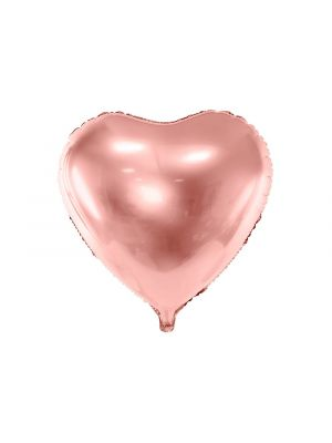 Ruusukultainen Foliopallo - Sydän