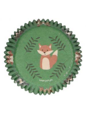 Muffinssivuoat metsän eläimet, 48 kpl.
