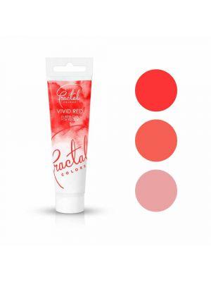 Fractal Colors FullFill Gel Vivid Red - Kirkkaanpunainen pastaväri, 30g.