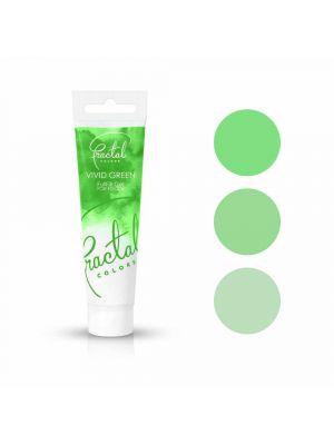 Fractal Colors FullFill Gel Vivid Green - Kirkkaanvihreä pastaväri, 30g.