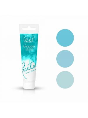 Fractal Colors FullFill Gel Turquoise - Turkoosinvärinen pastaväri, 30g.