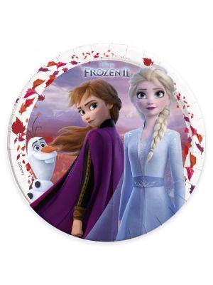 Frozen 2 isot paperilautaset, 8 kpl.