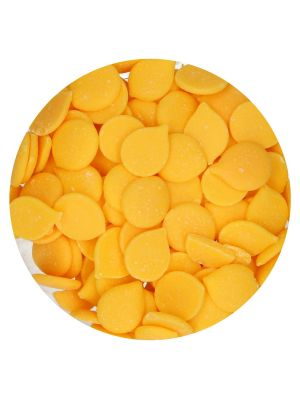 FunCakes Deco Melts Yellow - Keltaiset suklaanapit, 250g.