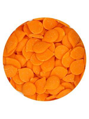 FunCakes Deco Melts Orange - Oranssit suklaanapit, 250g.
