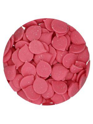 Fun Cakes Deco Melts Pink - Vaaleanpunaiset suklaanapit, 250g.