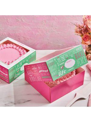"FunCakes kakkulaatikko ""Design quotes"" 26 x 26 x 12 cm. Pakkauksessa 2 laatikkoa."