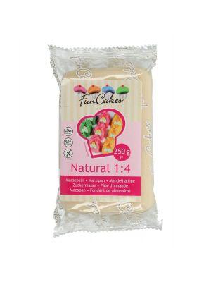 FunCakes Marzipan Natural 1:4 - Luonnonvärinen marsipaani, 250g.