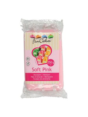 FunCakes Marzipan Soft Pink - Vaaleanpunainen marsipaani, 250g.