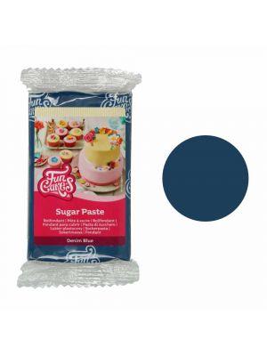 FunCakes Sugar Paste Denim Blue - Farkunsininen/Tummansininen sokerimassa, 250g.