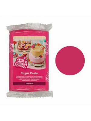 FunCakes Sugar Paste Hot Pink - Fuksianvärinen sokerimassa, 250g.
