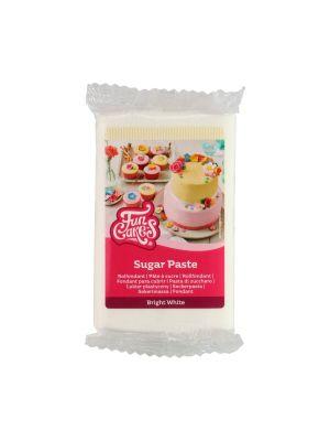 FunCakes Sugar Paste Bright White - Kirkkaanvalkoinen sokerimassa, 250g.