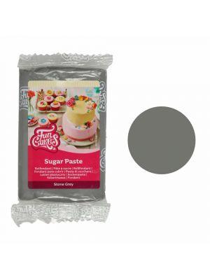 FunCakes Sugar Paste Stone Grey - Kivenharmaa sokerimassa, 250g.