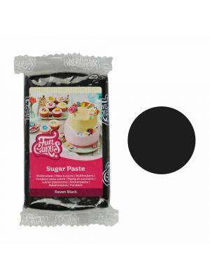 FunCakes Sugar Paste Raven Black - Musta sokerimassa, 250g.