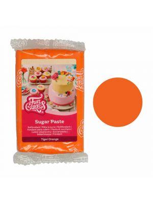 FunCakes Sugar Paste Tiger Orange - Oranssinen sokerimassa, 250g.