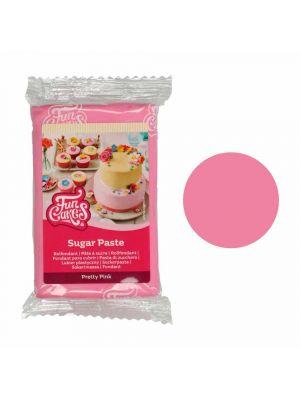 FunCakes Sugar Paste Pretty Pink - Vaaleanpunainen sokerimassa, 250g.