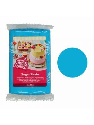 FunCakes Sugar Paste Sea Blue - Merensininen sokerimassa, 250g.